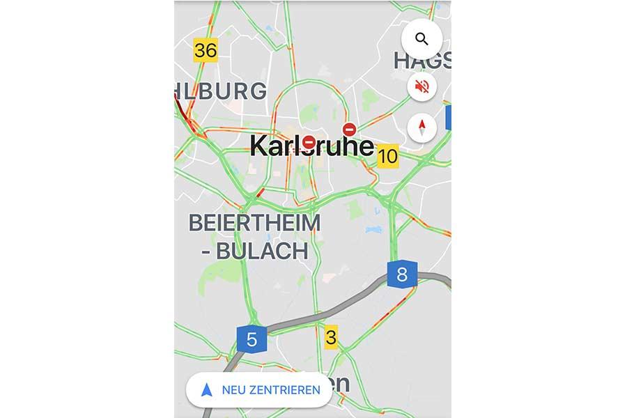 Google Maps Stau Anzeigen