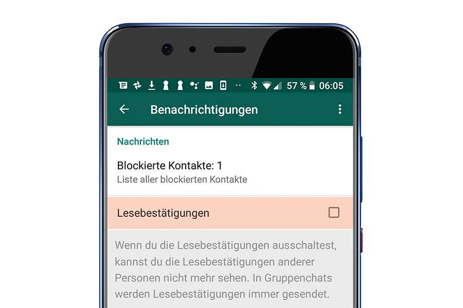 Mehr Privatsphäre Lesebestätigung In Whatsapp Abschalten