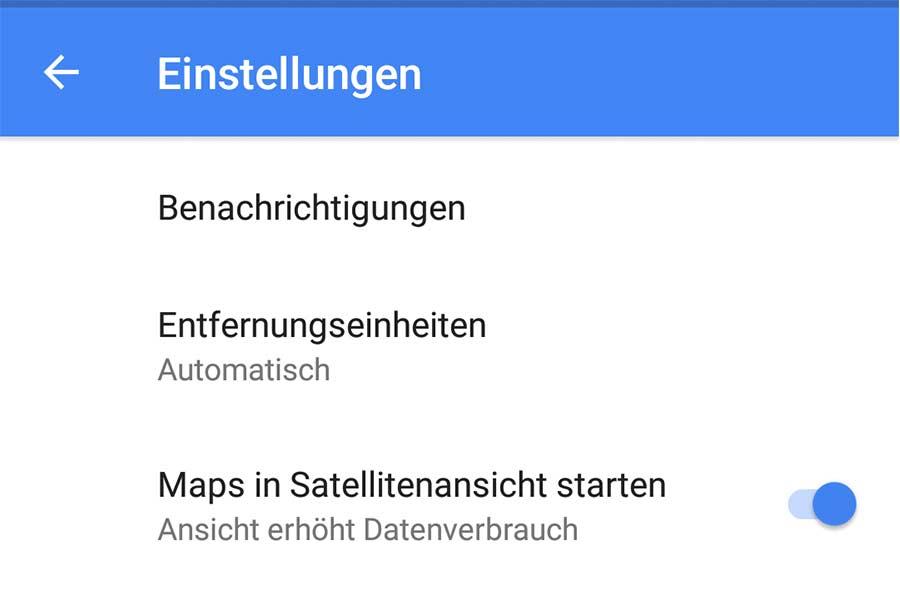 Google Maps Einstellungen Android