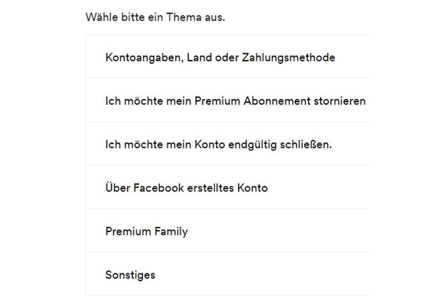 spotify konto löschen